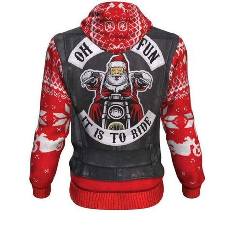 Oh What Fun It Is To Ride Ugly Xmas Hoodie - MK Online Store 101