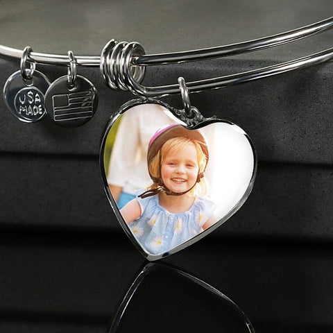 Personalize Heart Adjustable Bangle With Message Card ( YOU WILL ALWAYS BE ) Gift For Sister - MK Online Store 101