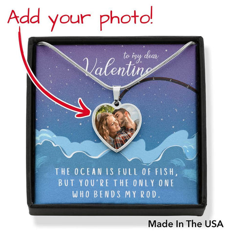 Personalize Heart Pendant With Message Card ( BEND MY ROD ) Gift For Wife - MK Online Store 101