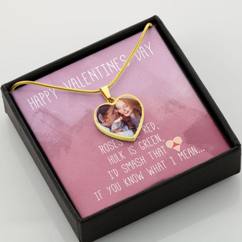 Personalize Heart Pendant With Message Card ( SMASH THAT ASS ) Gift For Wife - MK Online Store 101