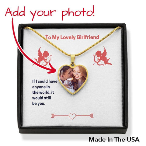 Personalize Heart Pendant With Message Card ( To My Lovely Girlfriend (Valentine's) Gift For Girlfriend - MK Online Store 101