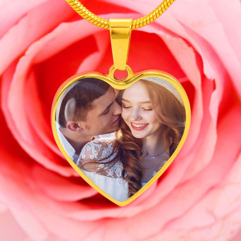 Personalize Heart Pendant With Message Card ( TOOK A WHILE WIFE ) Gift For Wife - MK Online Store 101