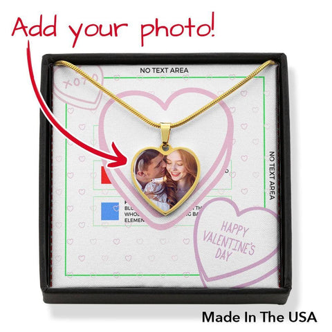 Personalize Heart Pendant With Message Card (Valentines - Candy Hearts ) Gift For Wife - MK Online Store 101