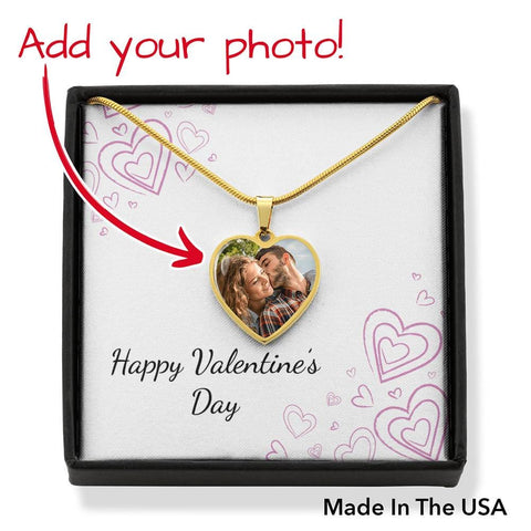 Personalize Heart Pendant With Message Card ( Valentines - Chalk Hearts ) Gift For Wife - MK Online Store 101