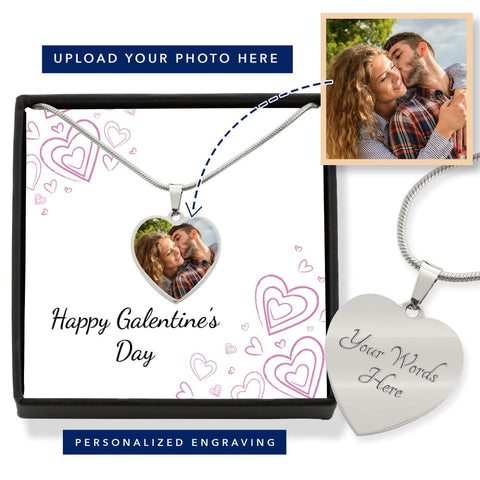 Personalize Heart Pendant With Message Card ( Valentines Galentines Chalk Hearts ) Gift For Wife - MK Online Store 101