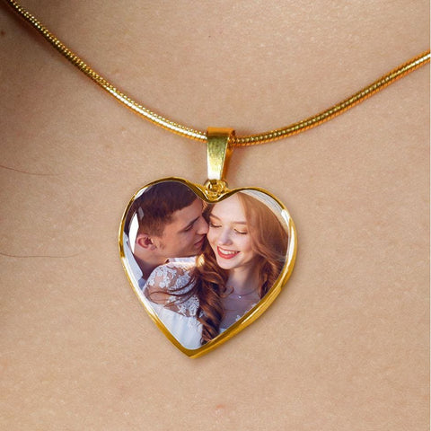 Personalize Heart Pendant With Message Card ( Valentines - Golden Heart ) Gift For Wife - MK Online Store 101