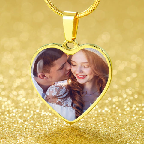 Personalize Heart Pendant With Message Card ( XOXO WON MY HEART ) Gift For Wife - MK Online Store 101