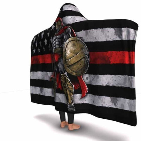 Red Line Warrior Hooded Blanket - MK Online Store 101