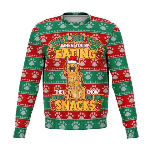 Snacks German Shephard Ugly Xmas Sweatshirt - MK Online Store 101