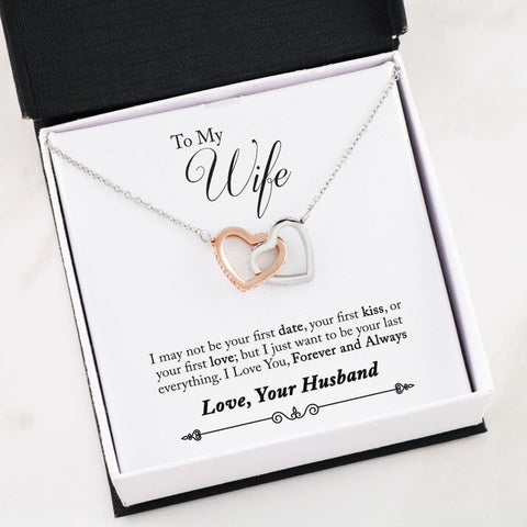 Son To Mom Cubic Zirconia Luxury Interlocking Heart Necklace ( First ) - MK Online Store 101