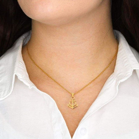 Son To Mom Luxury Friendship Anchor Necklace ( Best ) - MK Online Store 101