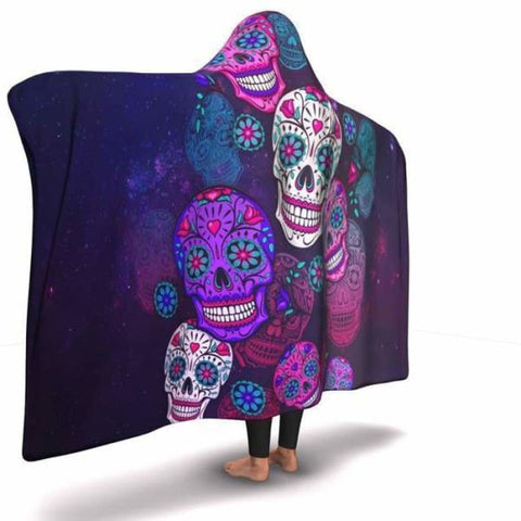 Sugar Skull Hooded Blanket - MK Online Store 101