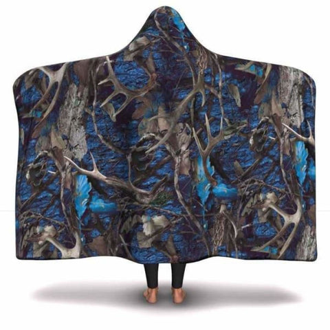 Turquoise Hunting Hooded Blanket - MK Online Store 101