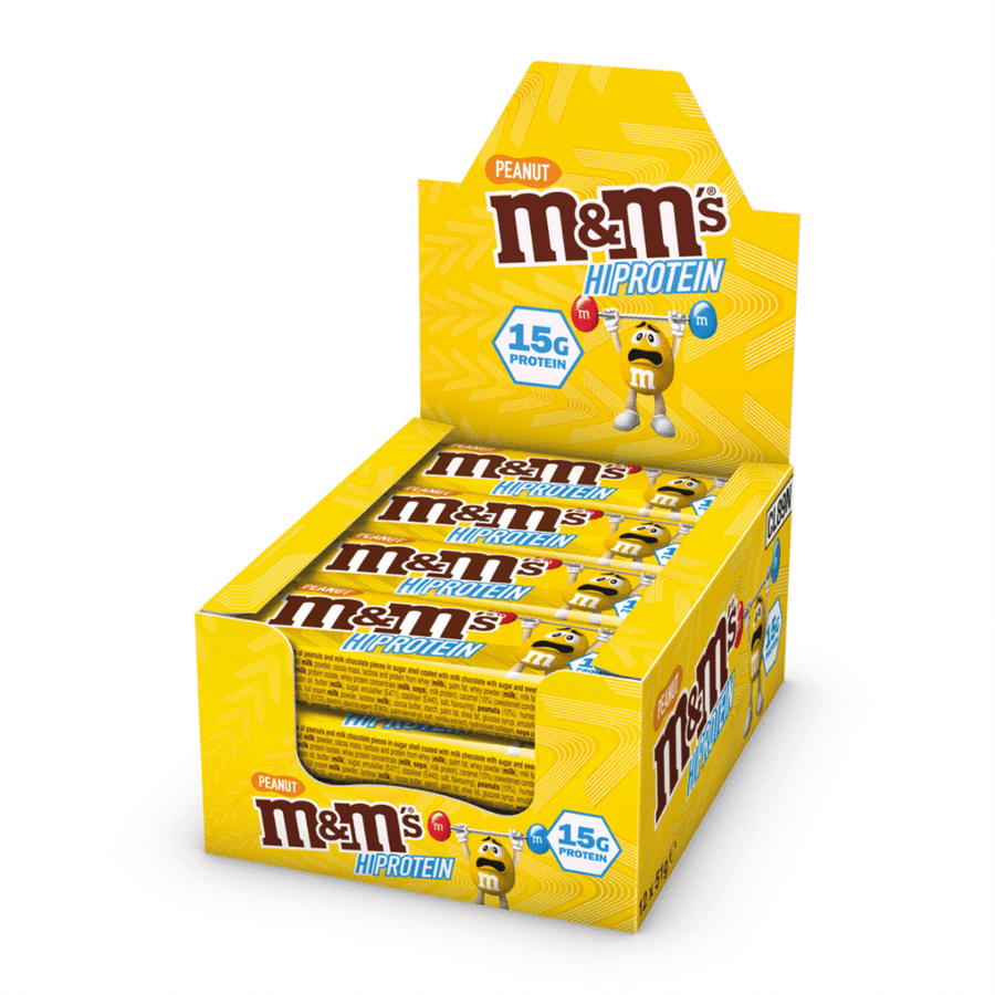 M and Ms HI protein chocolate