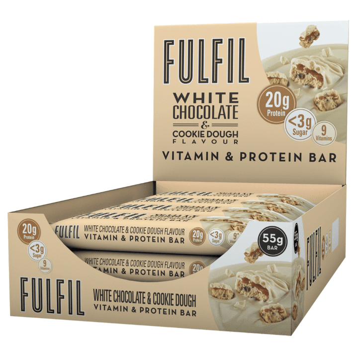 FULFIL WHITE CHOCOLATE & COOKIE DOUGH BOX OF 15 BARS