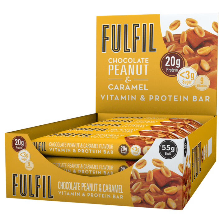 FULFIL CHOCOLATE PEANUT & CARAMEL BOX OF 15 BARS