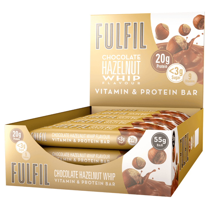 FULFIL CHOCOLATE HAZELNUT WHIP BOX OF 15 BARS