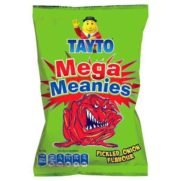 Box of Mega Meanies Pickled Onion | Box of 48 Packets (30g) special offer