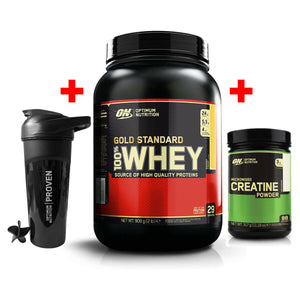 Optimum Nutrition Whey 908g + Creatine + Shaker