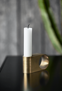 Munus candle - brass - Høst design