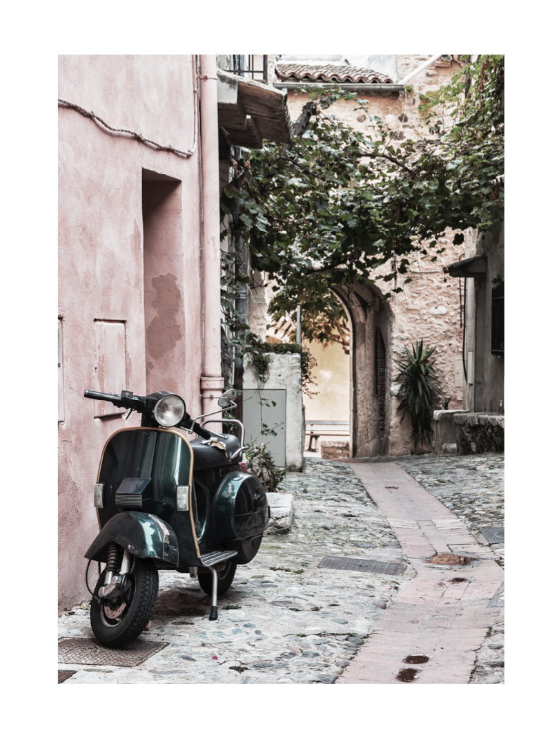 scooter vintage moped poster rome streets