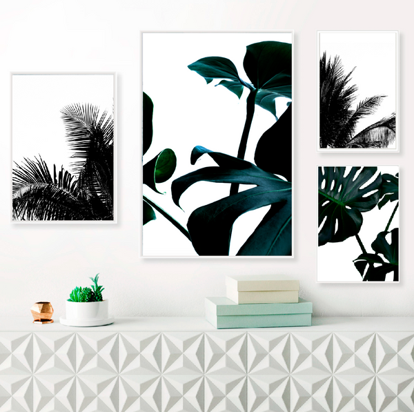 Poster - black palm leaf II