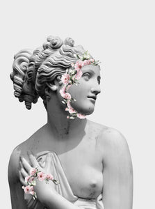Flower statue Poster