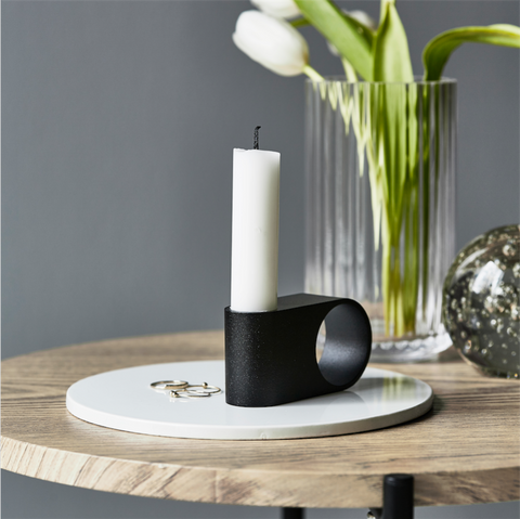 Munus candle - black