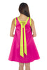Fuchsia Pink with Neon Yellow Ribbon