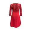 V-Neck Zig-Zag Premium Lace in Ruby Red