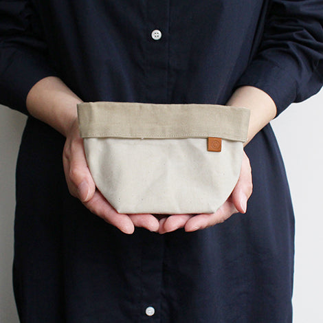 Cohana accessorie pouch waxed canvas