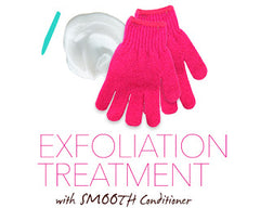 Cibu Conditioner Hack # 1: Use with nubby gloves to exfoliate