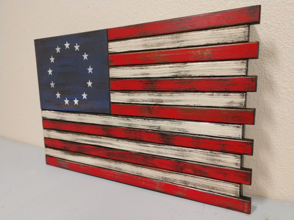 Small American Flag Gun Concealment Case With Single Compartment