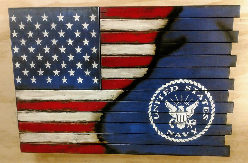 Liberty Home Concealment Small American Flag With Navy Logo