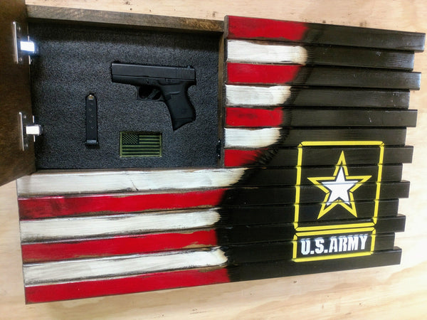 Liberty Home Concealment Small American Flag With Army Logo