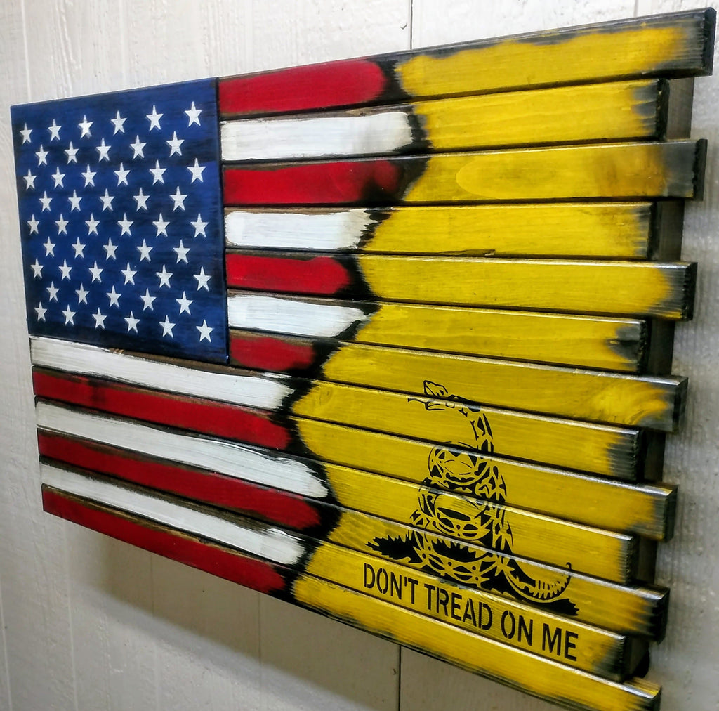 Liberty Home Concealment Small American Flag with Gadsden Logo