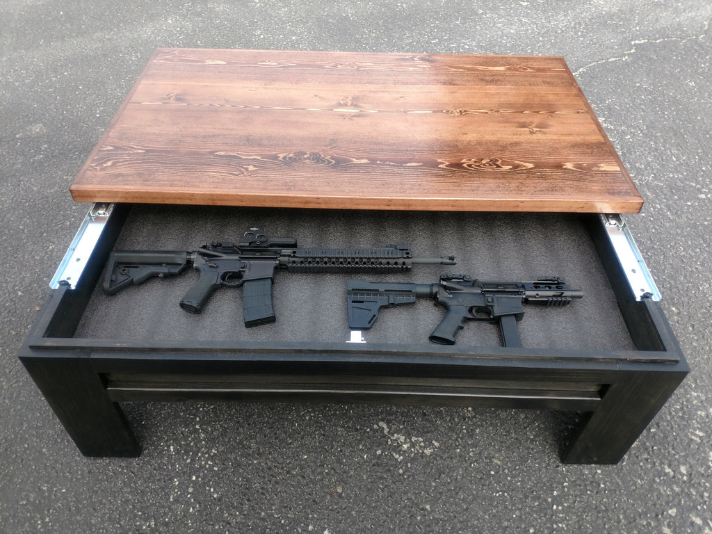 concealment coffee table coffee table gun safe gun table rh libertyhomeconcealment com coffee table gun safe plans how to build a coffee table gun safe