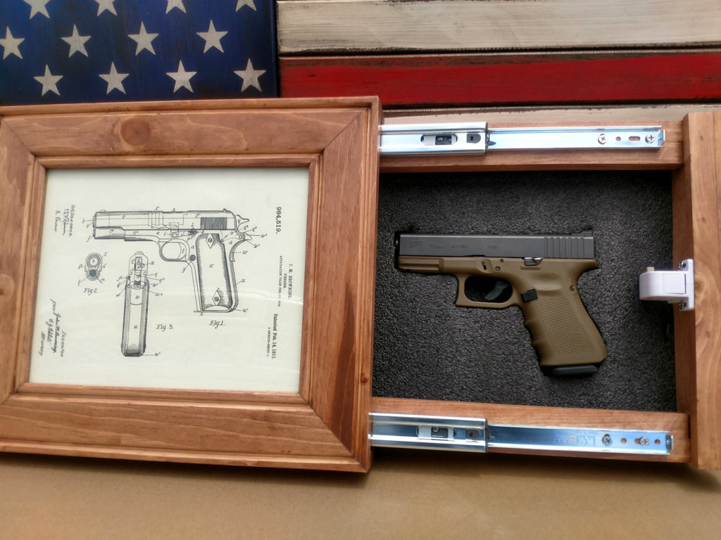 8x10 Concealed Picture Frame Gun Safe Liberty Home Concealment