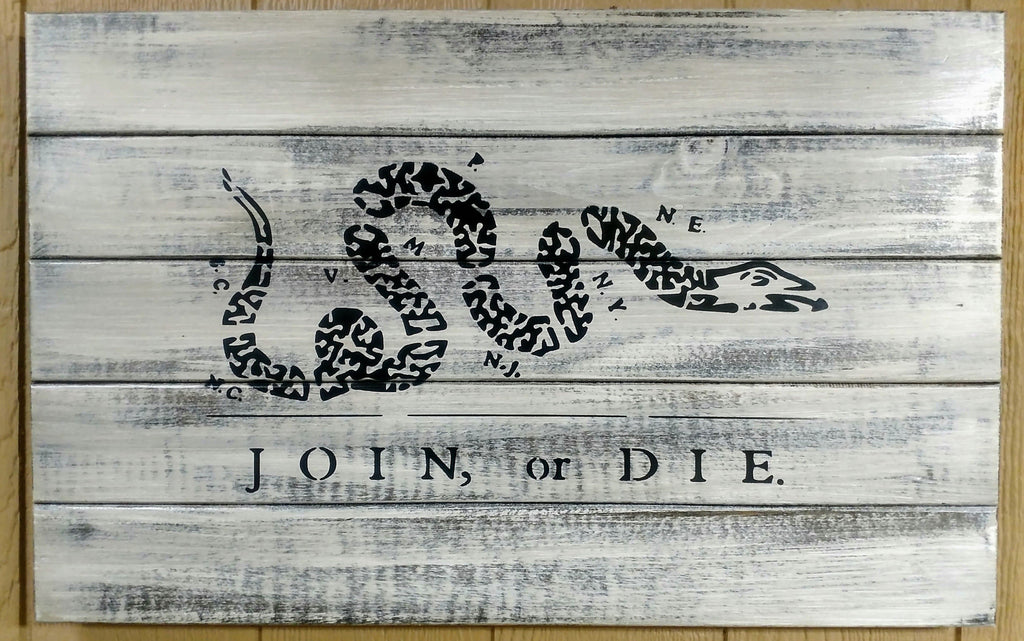 Join Or Die Hidden Gun Storage Sign Liberty Home Concealment
