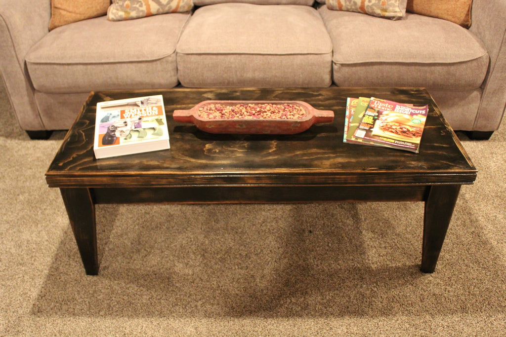 coffee table with hidden storage concealment table liberty home concealment. Black Bedroom Furniture Sets. Home Design Ideas