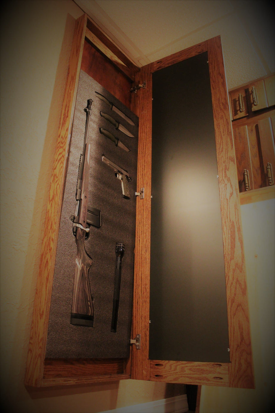 Liberty Wall Mirror. Hidden Gun Storage