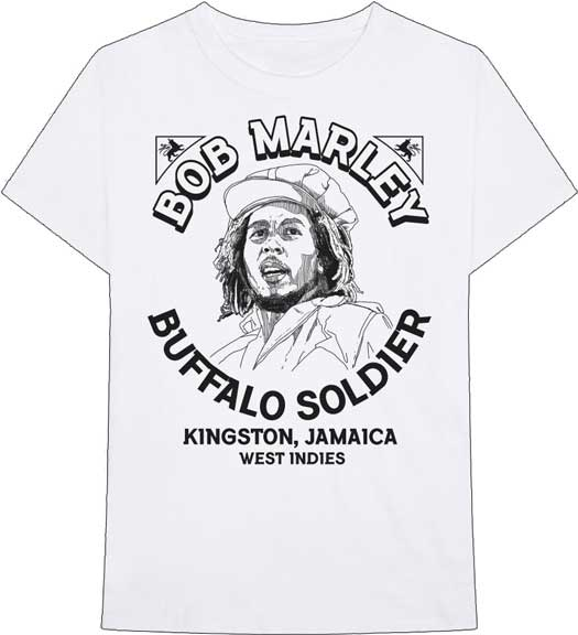 Bob Marley Buffalo Soldier Illustrated T-Shirt