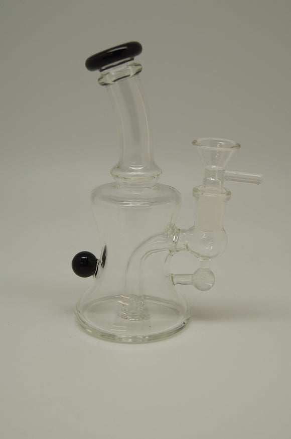 Clear Bell Shaped Bubbler with Color Accents