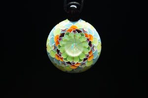 Summers Moon Dot Stack Pendant by @jujuglass111