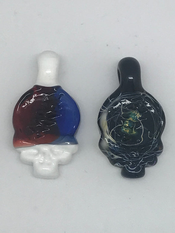 Deranged Lion Glass Stealie Pendant