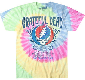 Grateful Dead American Music Hall Tie Dye T-Shirt