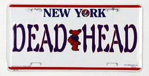Grateful Dead New Your Dead Head License Plate