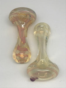 High Brid Glass Super Thick Gold Silver Fume Pipe