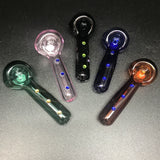Jellyfish Glass Solid Color Sparkle Pipe