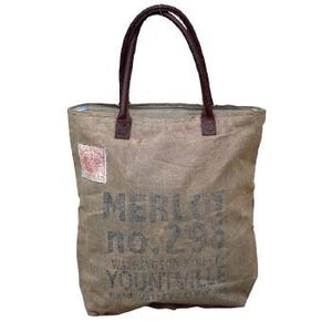 Merlot Tote Bag By Clea Ray